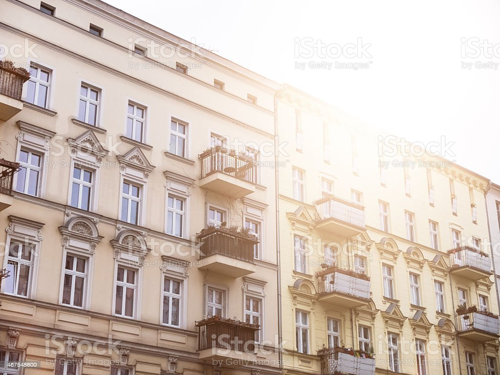 luxery apartments at prenzlauer berg, berlin stock photo
