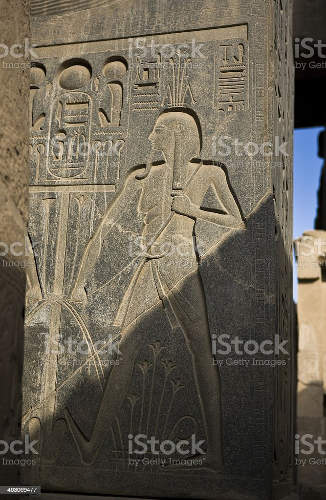Luxor carvings of pharaoh royalty-free stock photo