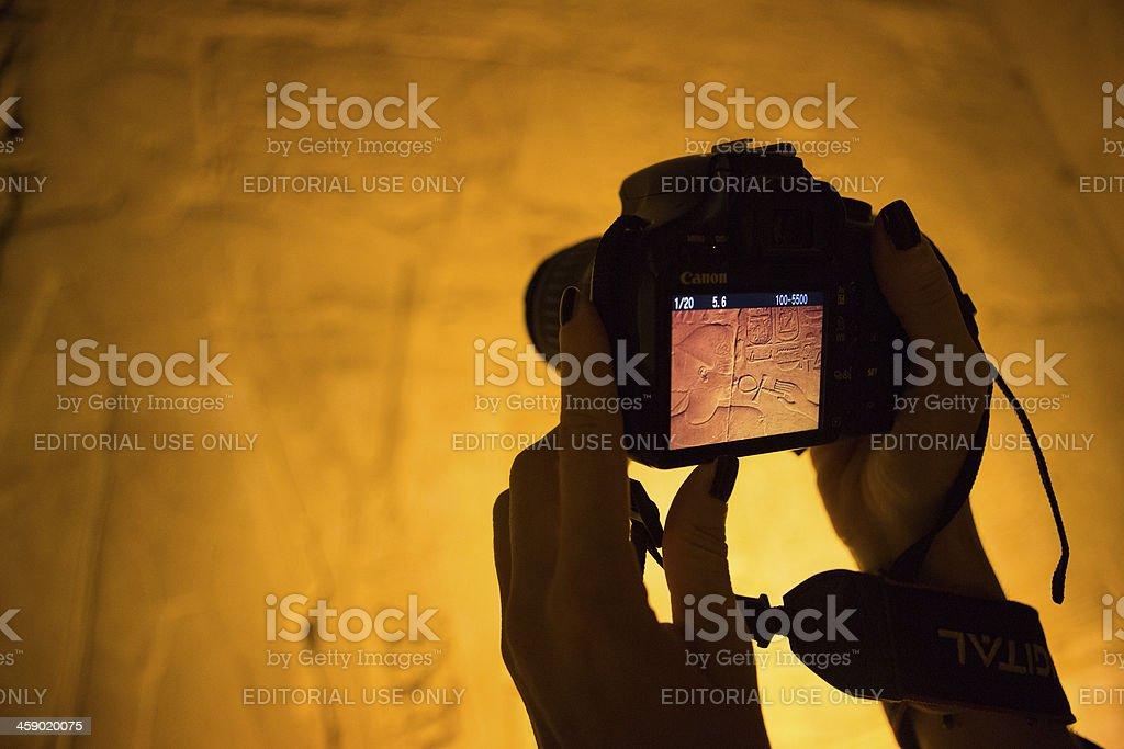Luxor hieroglyphics photography stock photo