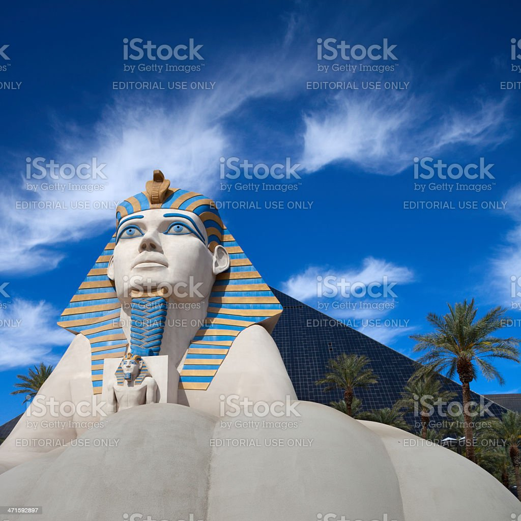 Luxor hotel and casino stock photo