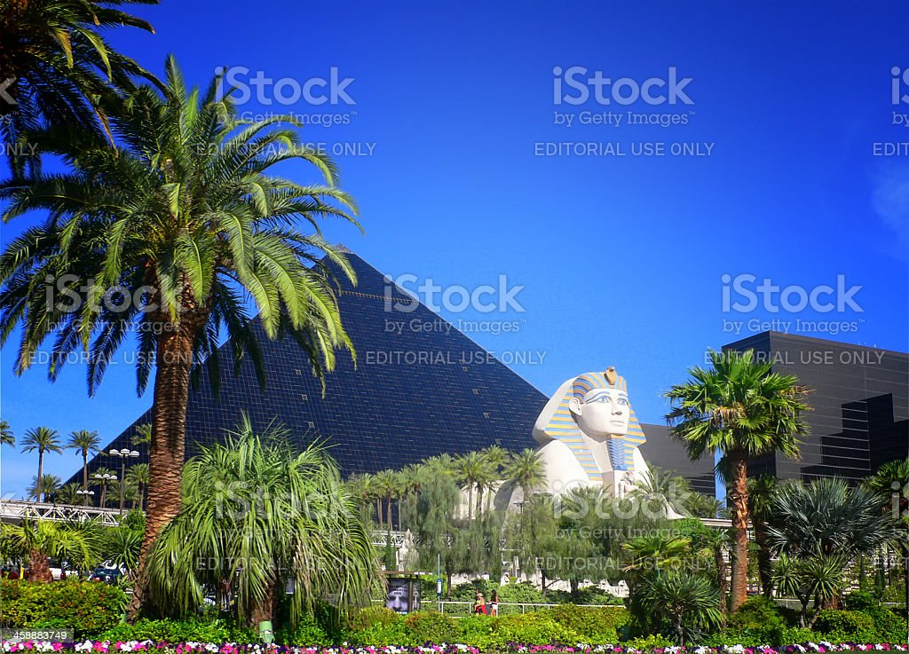 Luxor hotel casino on Las Vegas strip stock photo