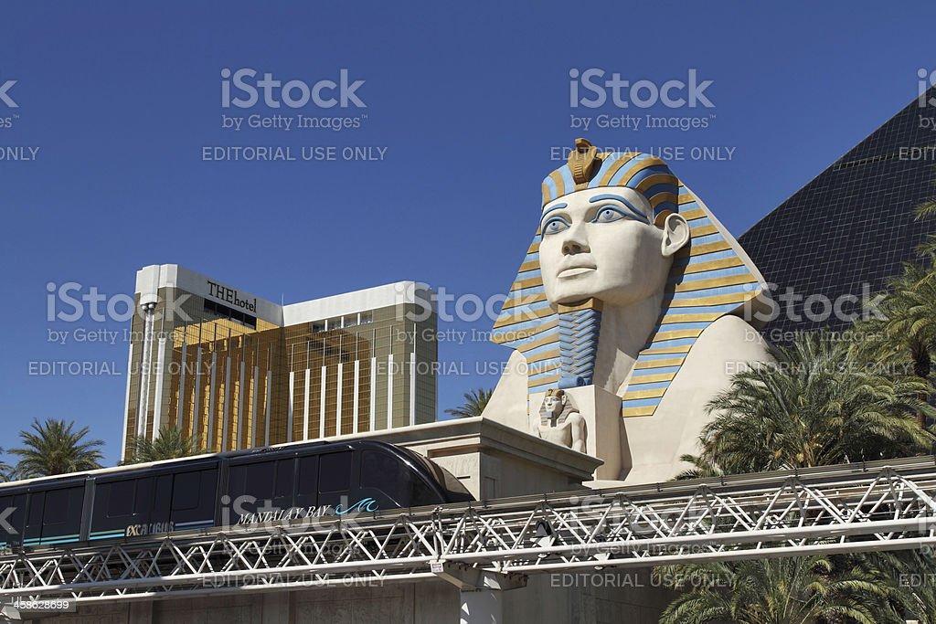 Luxor Spinx on the Strip in Las Vegas stock photo