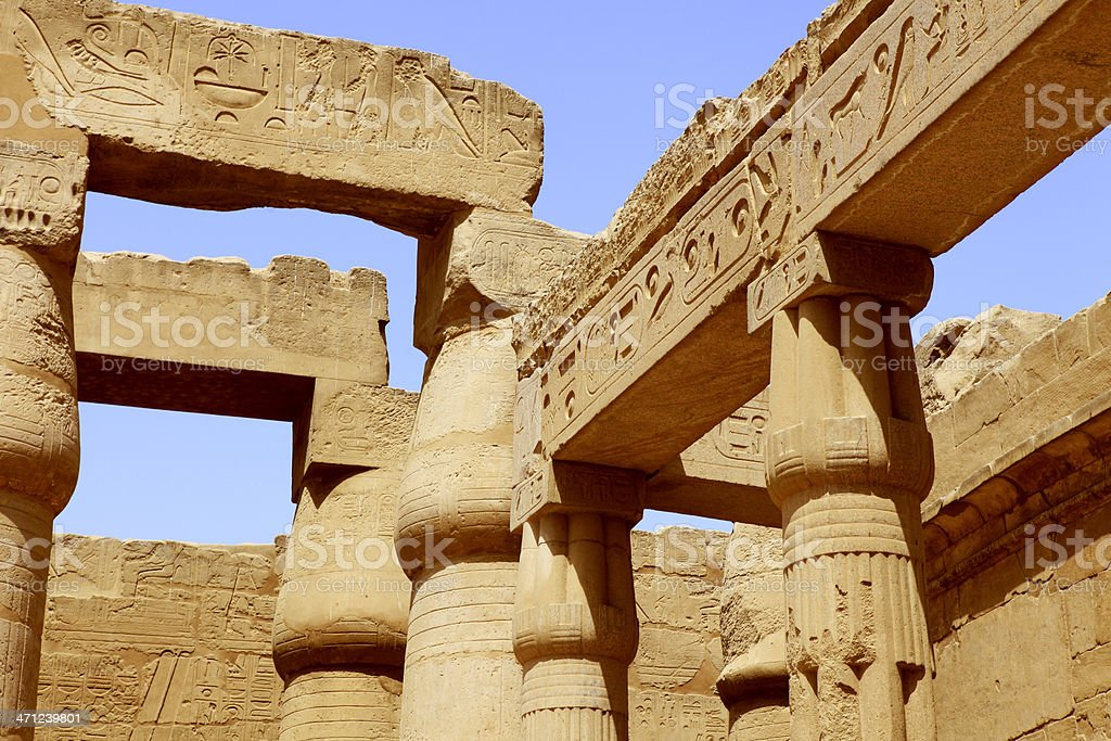 Luxor Temple - Court of Amenophis III stock photo