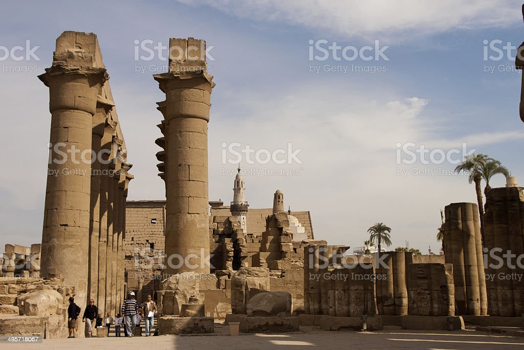 Luxor Temple Egypt stock photo