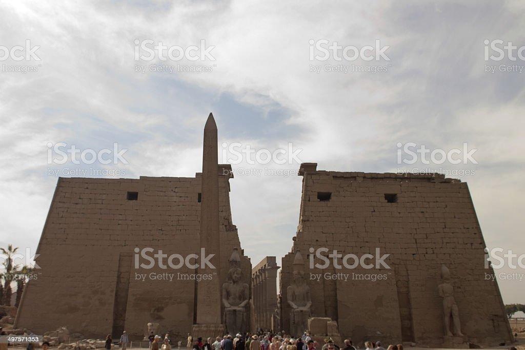 Luxor Temple Egypt stock photo