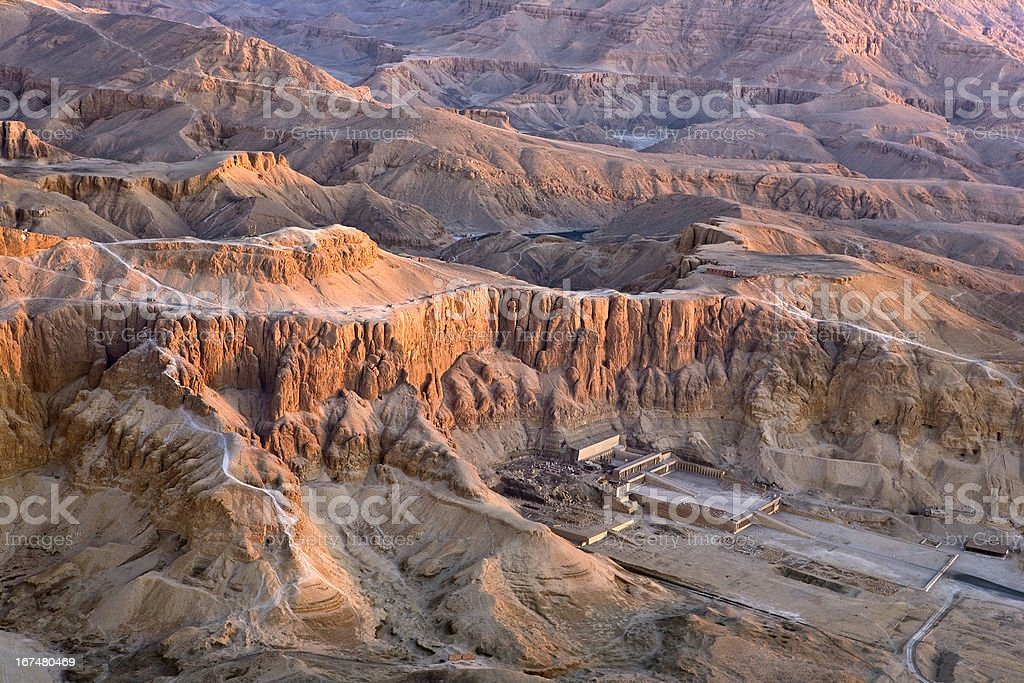 Luxor West Bank above royalty-free stock photo