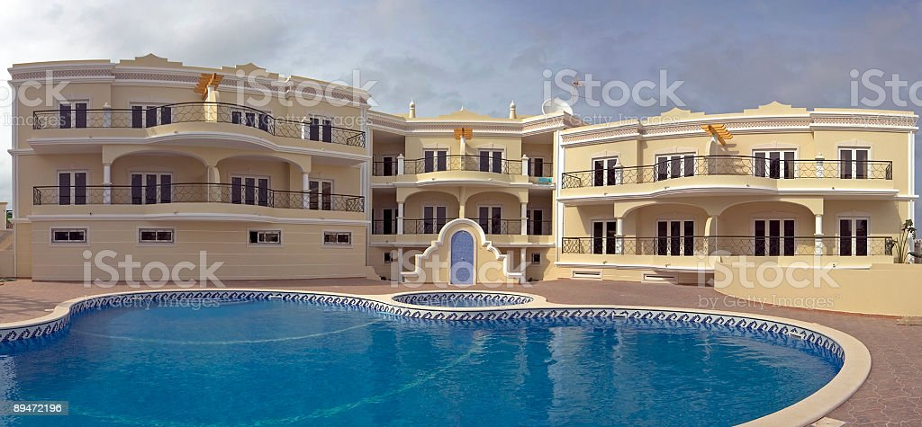 Luxurious appartments with swimmingpool in Portugal royalty-free stock photo
