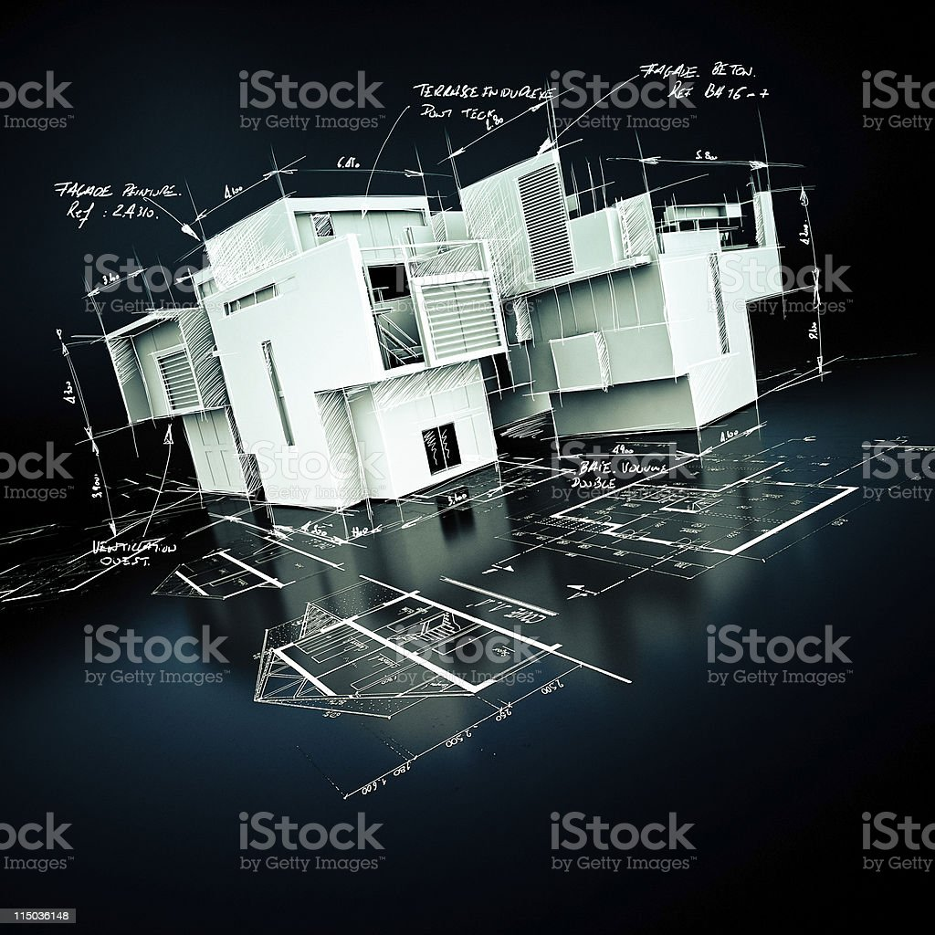 Luxurious architecture project stock photo