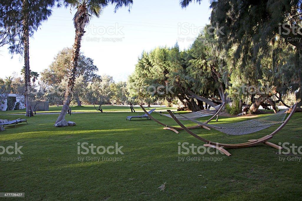 Luxurious back yard royalty-free stock photo