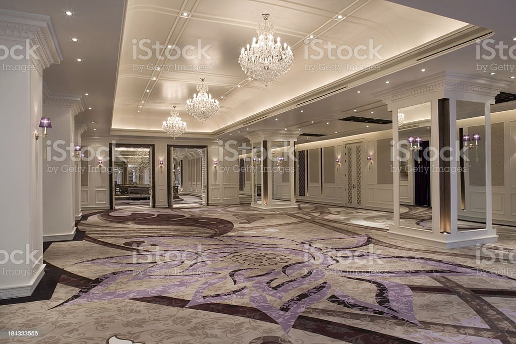 Luxurious Ballroom stock photo