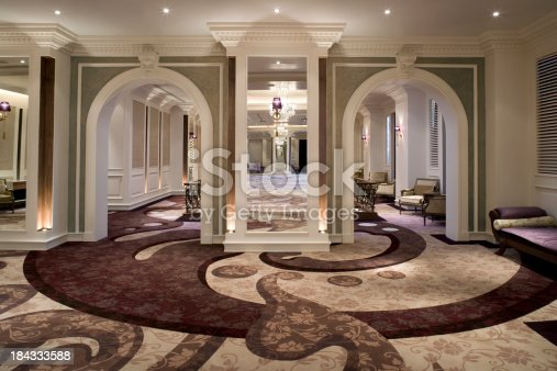 Large Empty Modern Victorian Style Function Room. Over 60 More Photos From This Collection:
