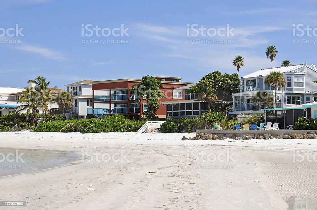 Luxurious Beach Front Homes stock photo