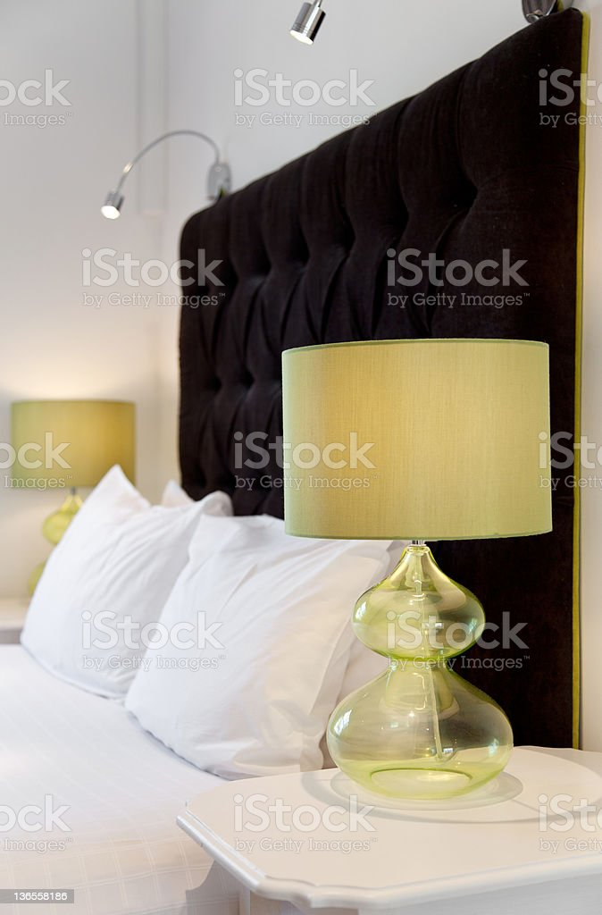 Luxurious bed design royalty-free stock photo