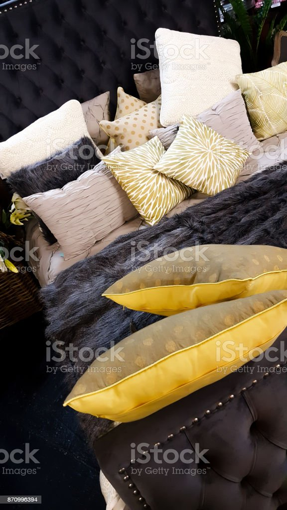 Luxurious Bed stock photo