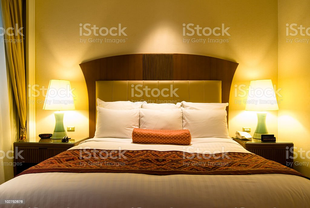 Luxurious bedroom royalty-free stock photo