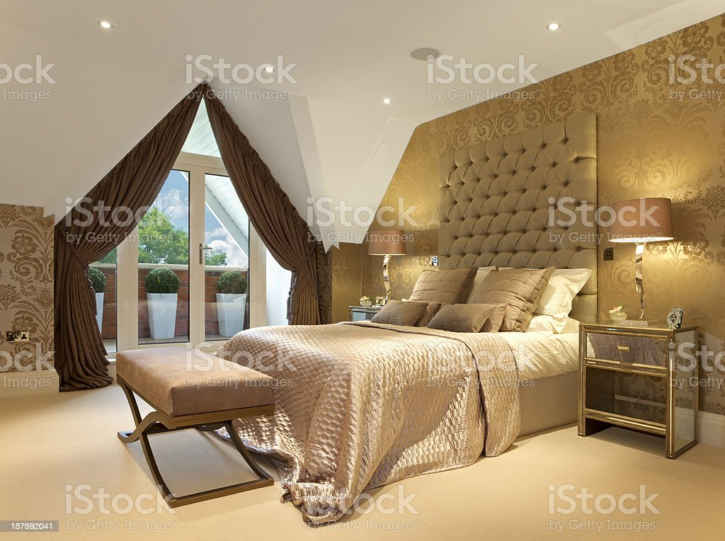 Luxurious bedroom suite stock photo