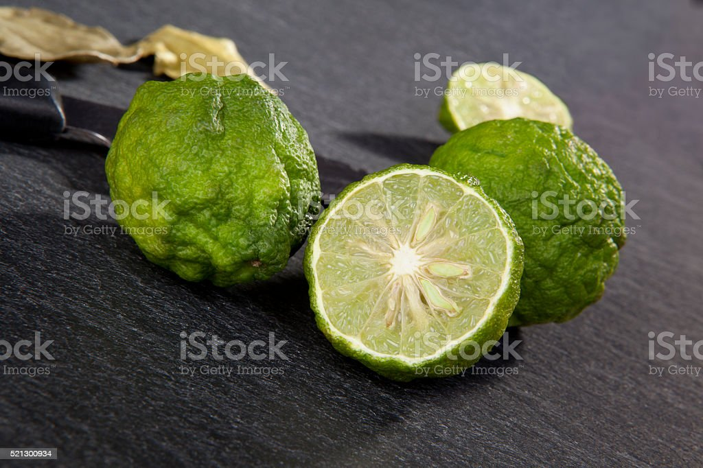 Luxurious bergamot background. stock photo