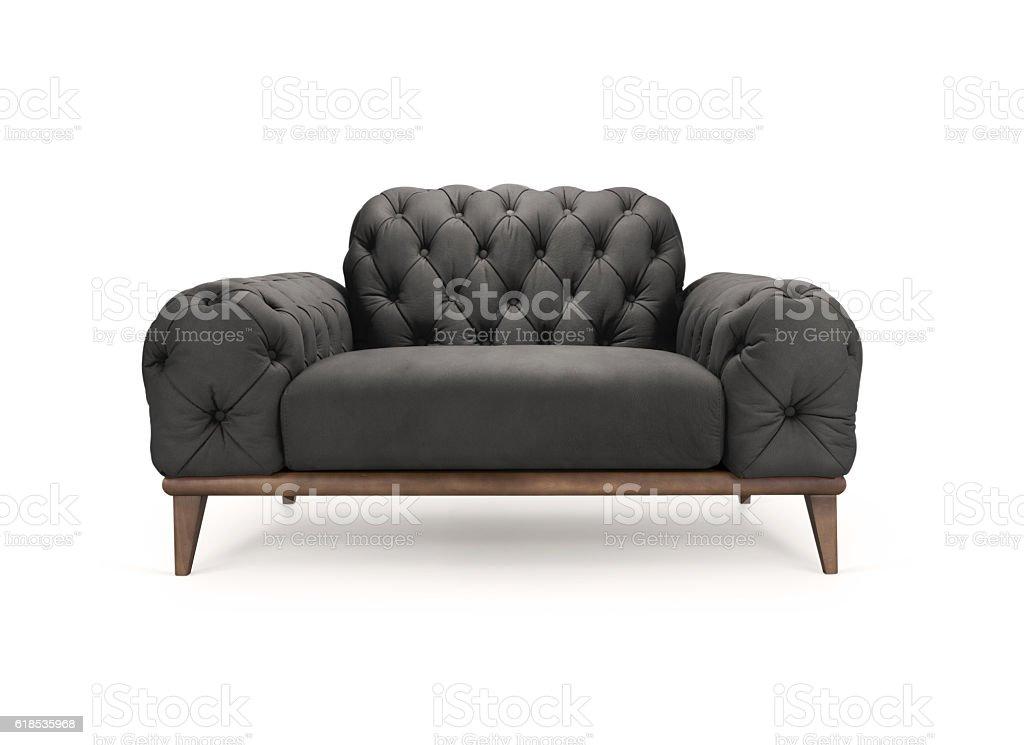 Luxurious black armchair stock photo