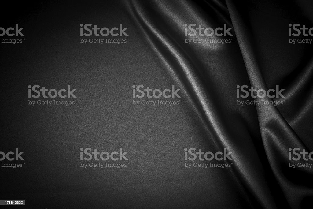 Luxurious black satin backgrounds stock photo