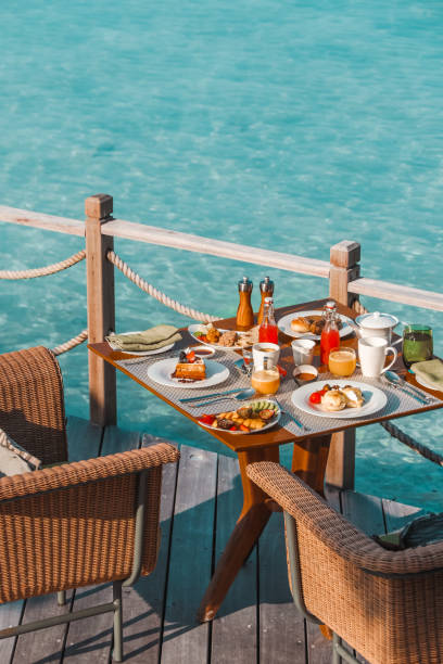 Luxurious Breakfast by the Sea in Maldives