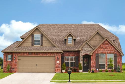 Luxurious brick home in expensive neighborhood