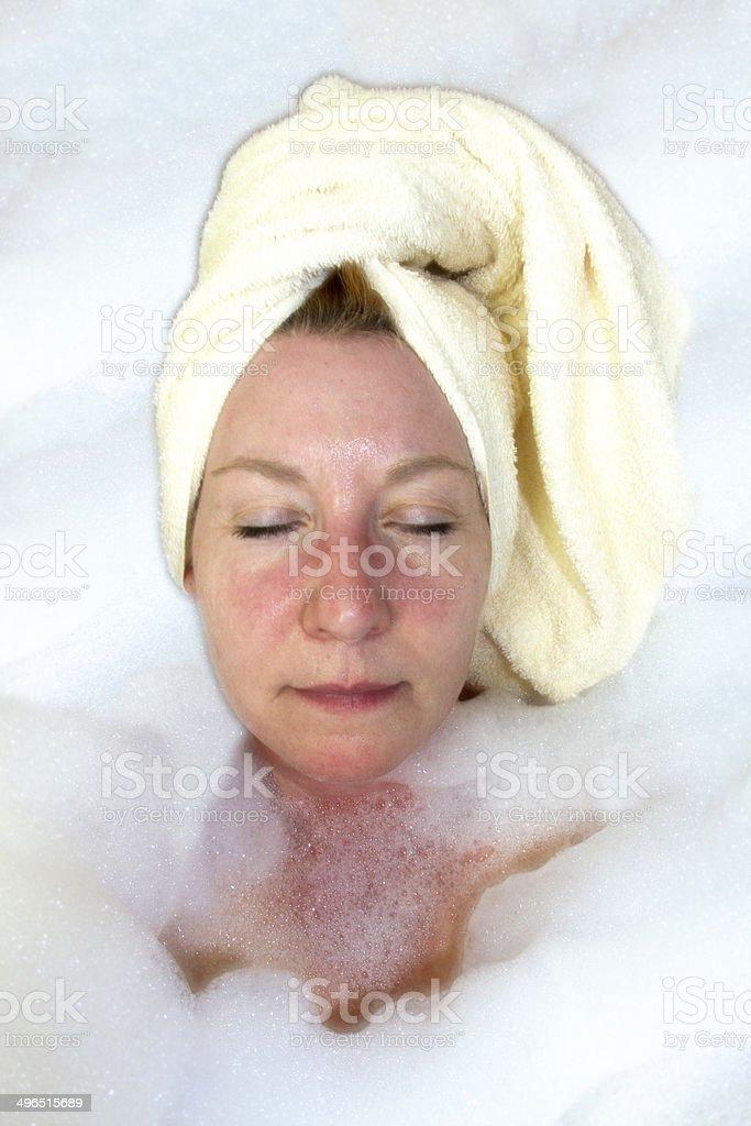 Luxurious Bubble Bath stock photo