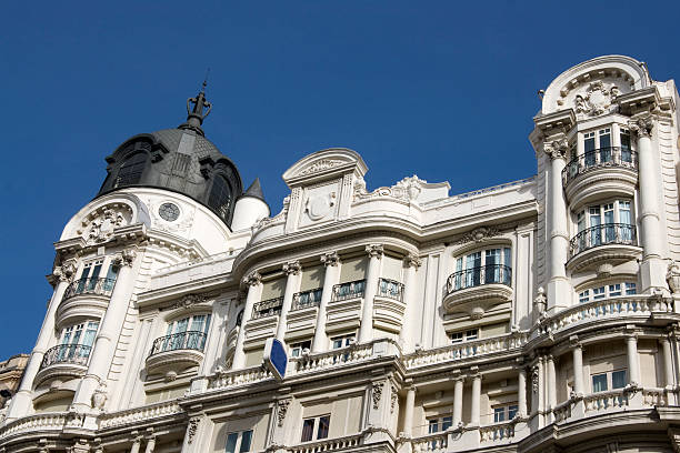 Luxurious building - Madrid stock photo