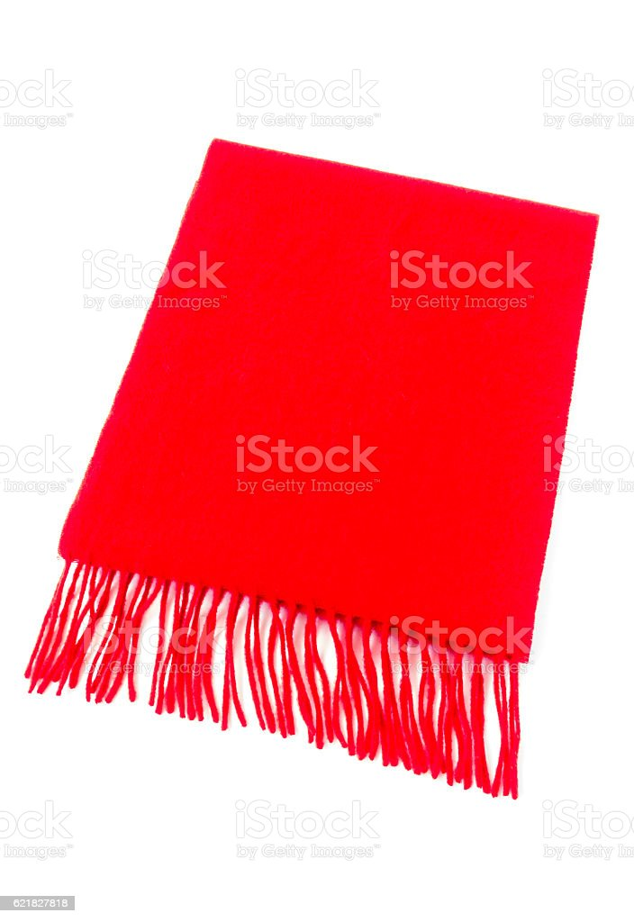 Luxurious Cashmere Scarf in Red – Foto