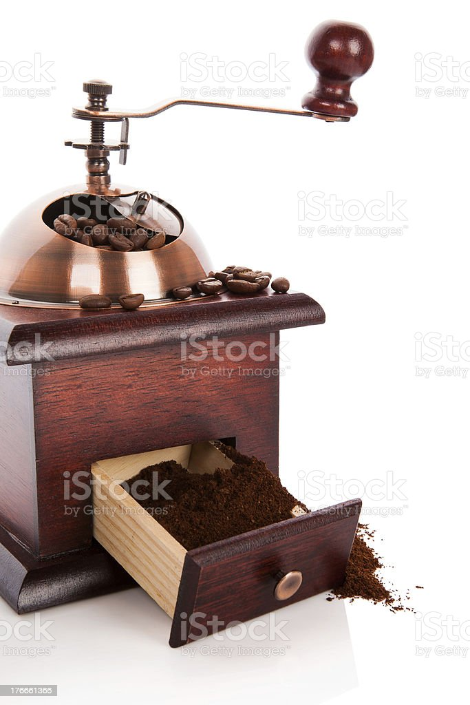 Luxurious coffee mill. royalty-free stock photo