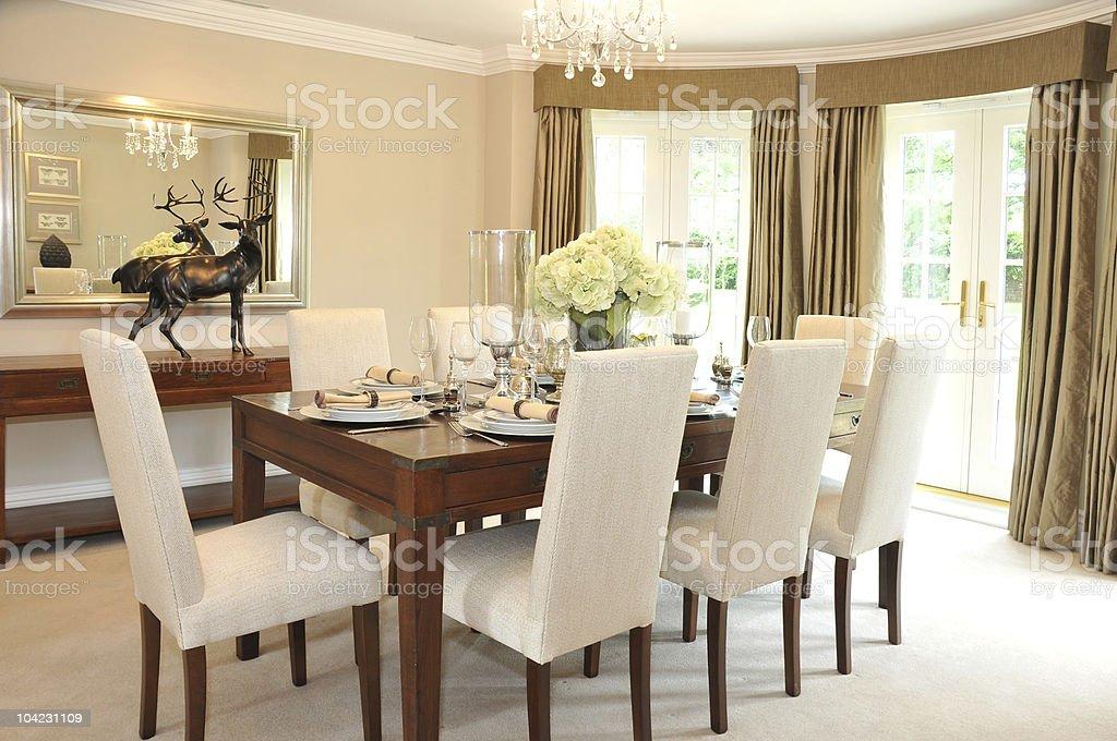 Luxurious Dining Room stock photo