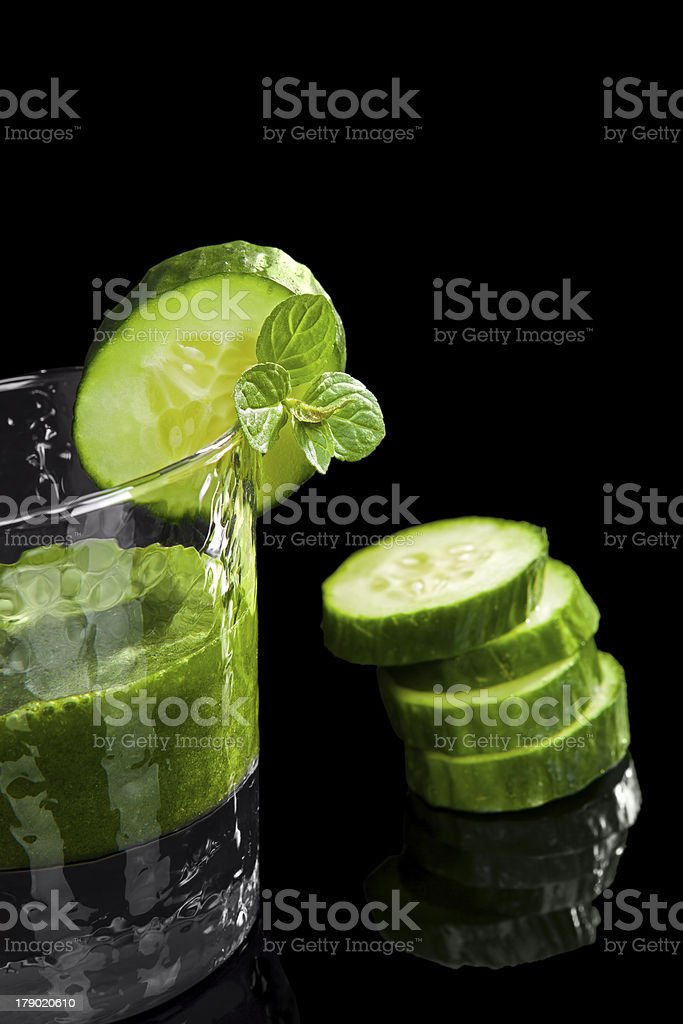 Luxurious green drink royalty-free stock photo