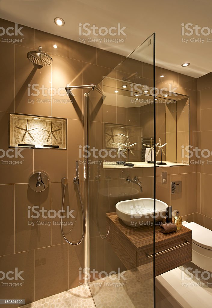 luxurious guest's washroom royalty-free stock photo