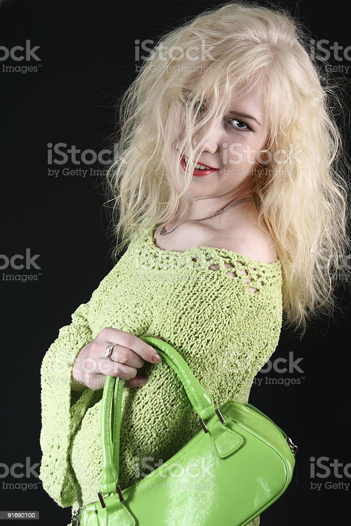 Luxurious hair of the blond royalty-free stock photo