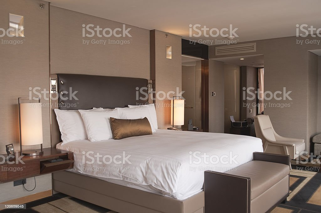 Luxurious Hotel Room royalty-free stock photo