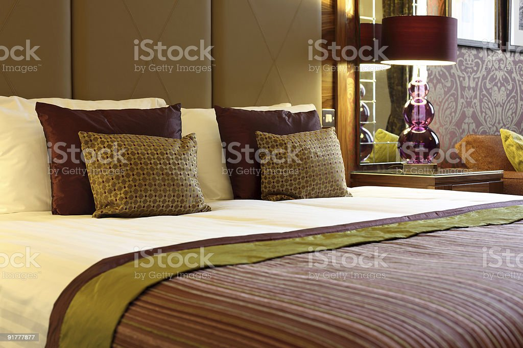 Luxurious hotel room stock photo