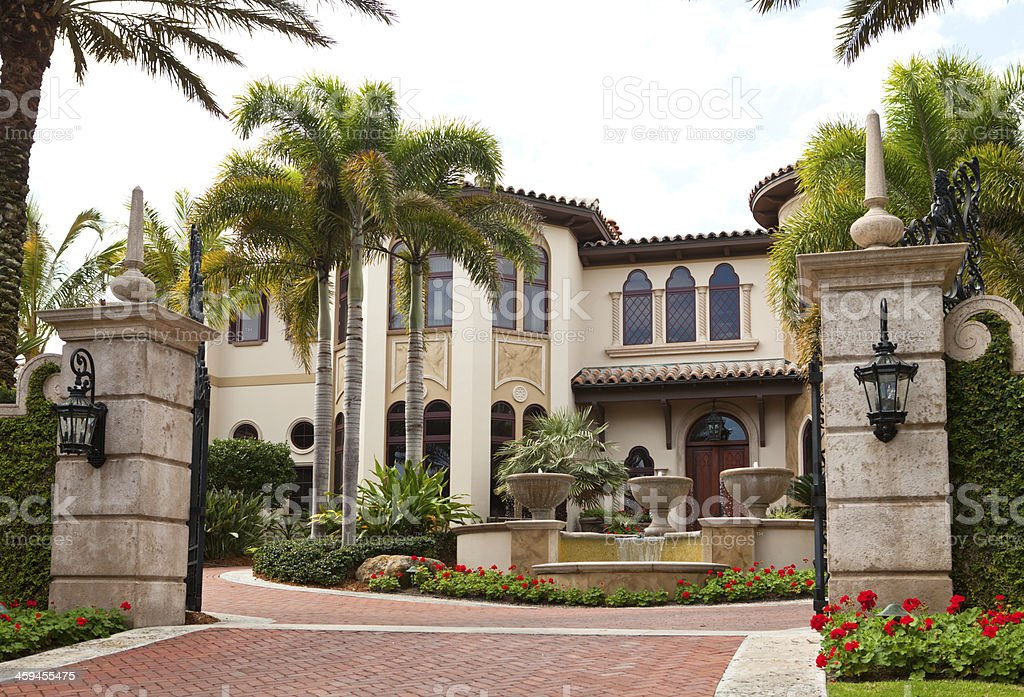 Luxurious House in Florida stock photo