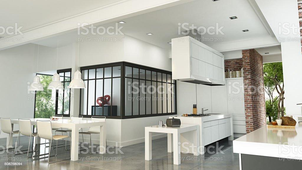 int rieur de la maison luxueuse de style industriel photos et plus d 39 images de a la mode istock. Black Bedroom Furniture Sets. Home Design Ideas
