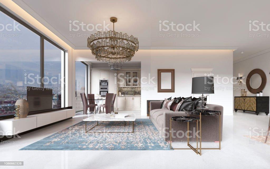 sillones contemporáneos sala de estar Lujoso Interior De Sala De Estar Estilo Contemporneo Con Tv
