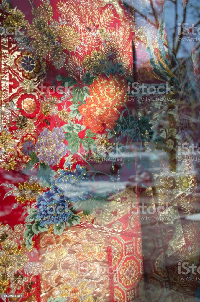 Luxurious kimono stock photo