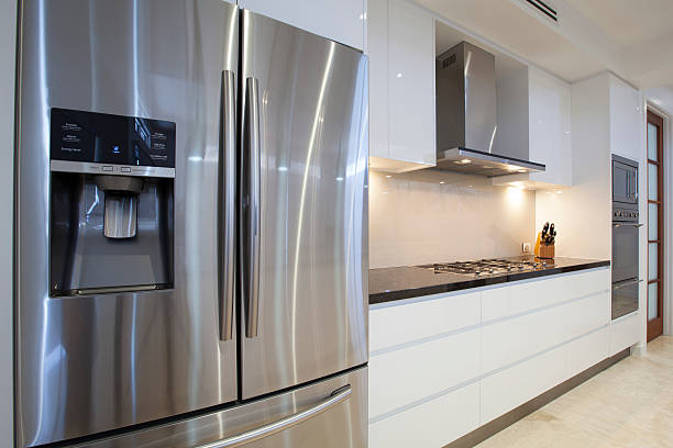 luxurious kitchen - stainless steel stock pictures, royalty-free photos & images