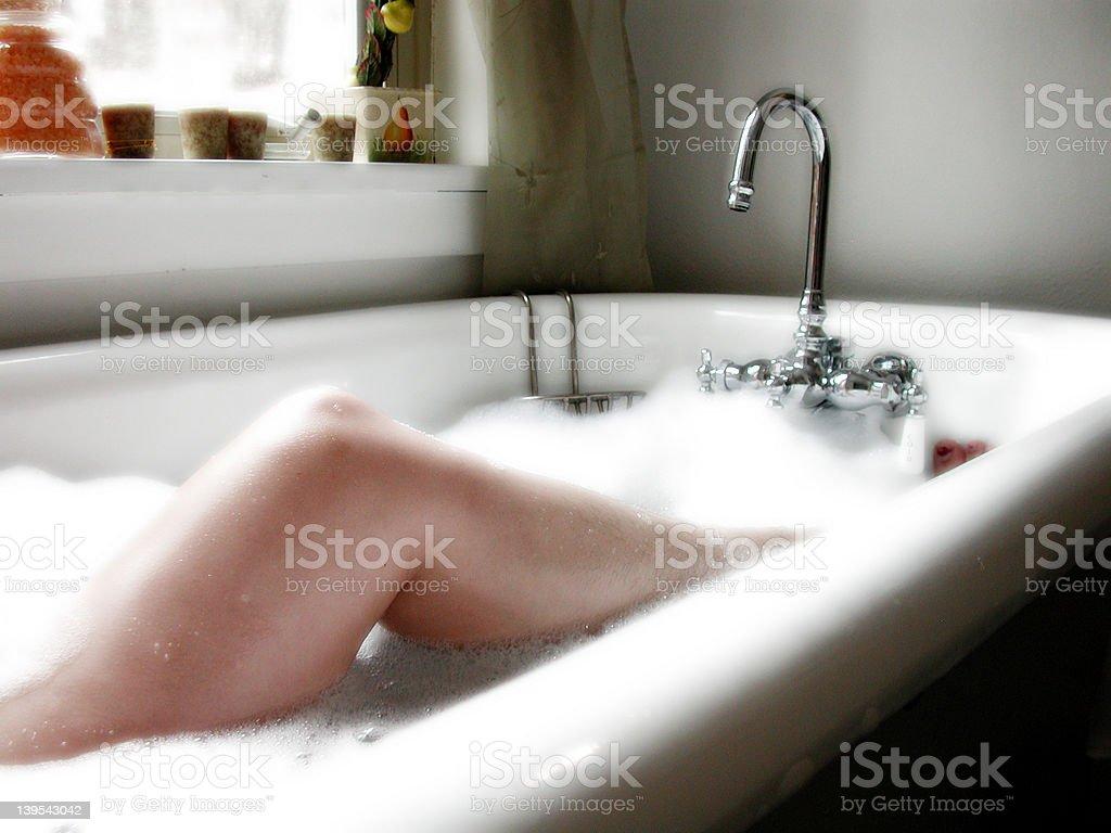 Luxurious Leggs in the Bath stock photo