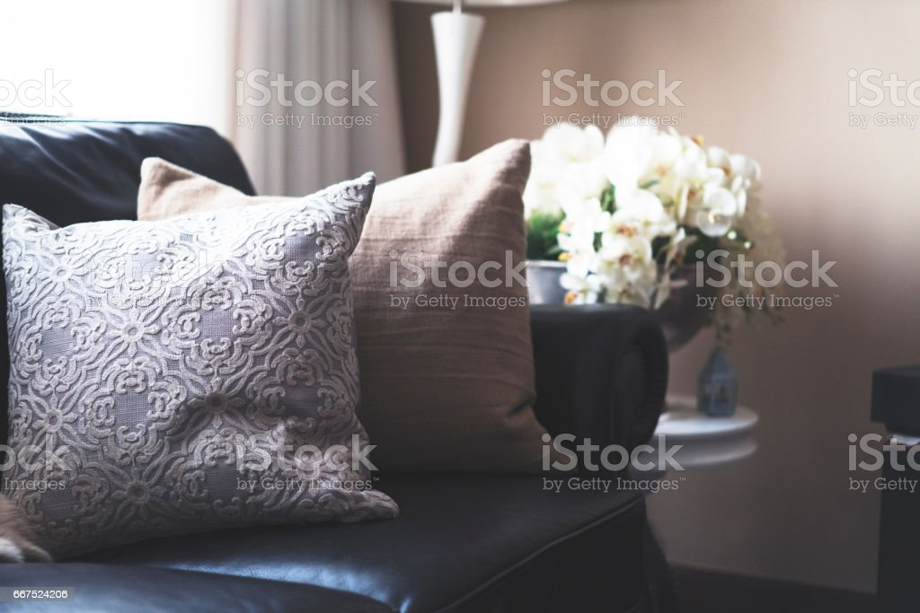Luxurious Living Room Interior. foto stock royalty-free