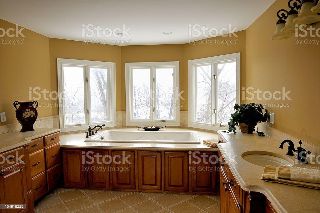 Luxurious Master Bathroom royalty-free stock photo