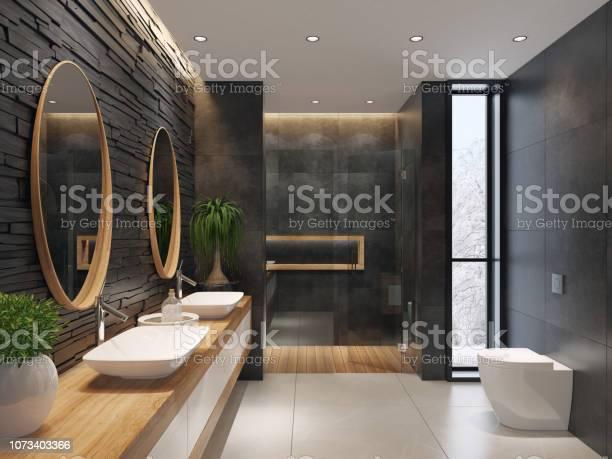 Luxurious minimalist bathroom with slate black stone wall picture id1073403366?b=1&k=6&m=1073403366&s=612x612&h=ckoihzt 5irkdojlghcphwvswwgg8vvfn4zlbglxdry=