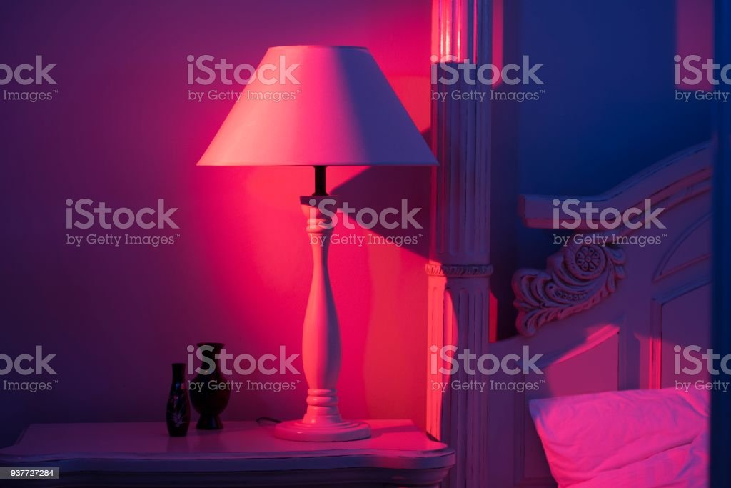 Luxurious minimalistic art décor lamp stock photo