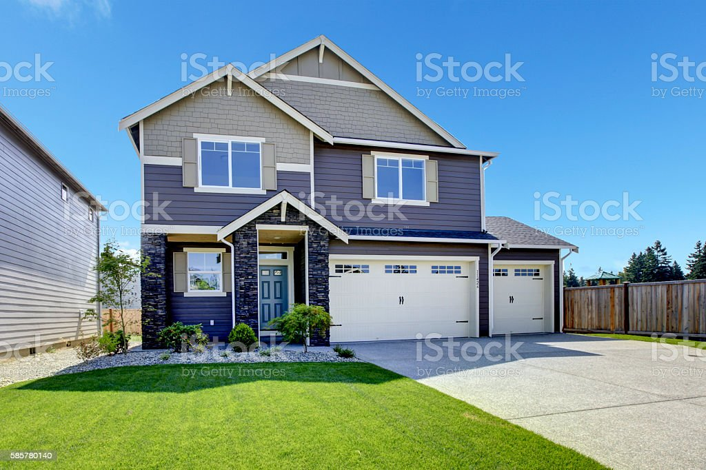 Luxurious Modern House With Entrance High Ceiling Porch. Royalty Free Stock  Photo