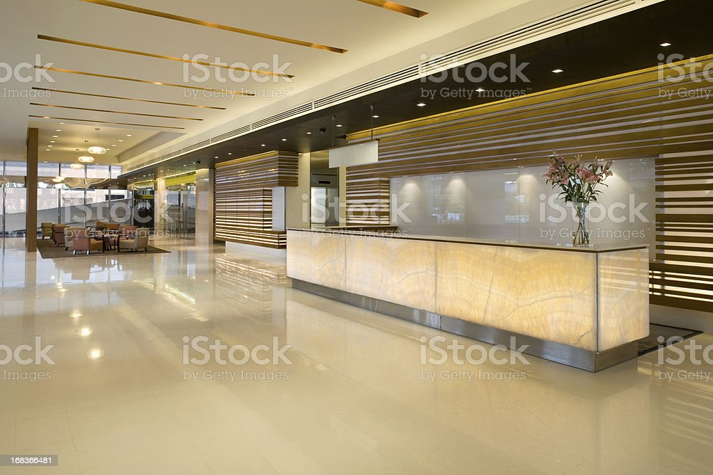 Luxurious Modern Lobby With Waiting Area stock photo