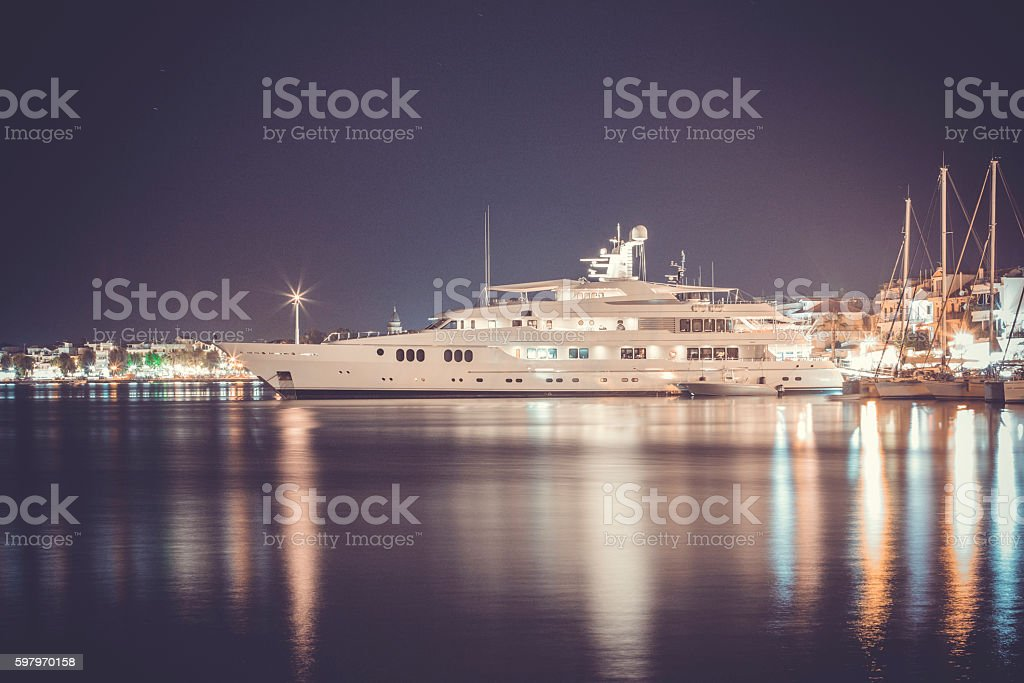 luxurious modern yacht stock photo