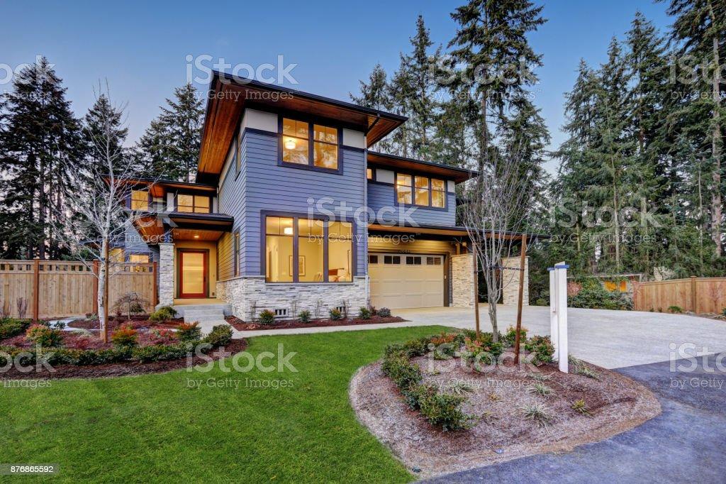 Luxuriöse Neubauhaus in Bellevue, WA – Foto