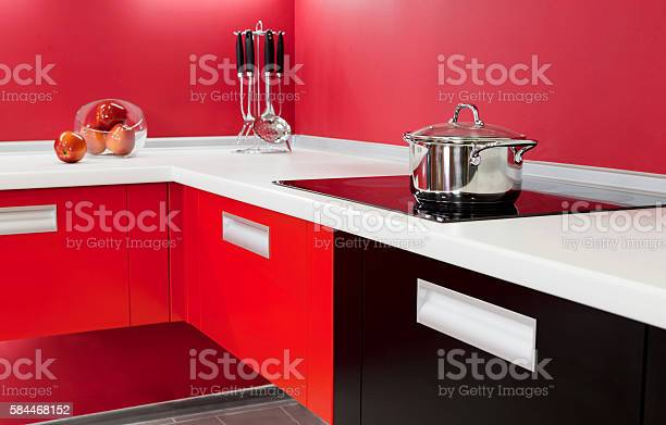 Luxurious new red kitchen with modern appliances picture id584468152?b=1&k=6&m=584468152&s=612x612&h=odprzzr2nprwr tapx6khbenepwgncpdxl6w8ntdx o=